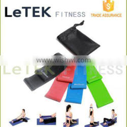 Resistance Loop Bands - Set of 4 Premium Exercise Bands - Great for Improving Mobility and Strength, Yoga, Pilates or for Injury Quality Choice