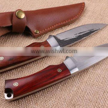 OEM handmade hunting knife with 9Cr18 steel and forged steel
