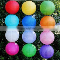 Wholesale hot sale lampion cheap 8 inch chinese round paper lantern