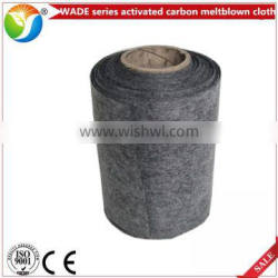 Meltblown nonwoven activated carbon filter cloth