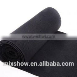Wide black elastic band for waist support