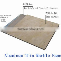 Super thin marble polymer plastic panels