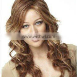colorful fashion crul synthetic full lace wig