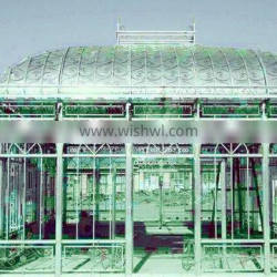 cheap steel movable green houses for wedding