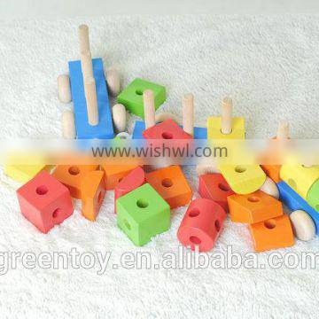 wooden beads toys train toys Promotional gift