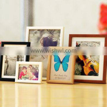 Premium quality rustic wooden style home Decorative wooden picture Rahmen Natural solid wood love wedding photo frame