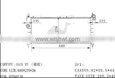 Radiator GM 92090138 MT/26