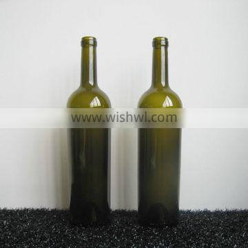 WHOLESALE REGULAR ROUND BOTTLES FOR WINE CORKED TOP