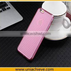 Electroplating Soft TPU Slim Case Back Cover For Apple iPhone 6S / iPhone 6S Plus Rose Red