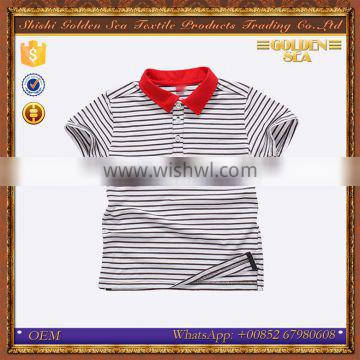 2016 custom durable stripe latest styles boys t shirt price