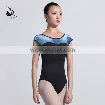 117142207 Girls Cap Sleeve Velvet Ballet Leotards