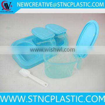 wholesale cheap price 3 compartment plastic containers for seasonings