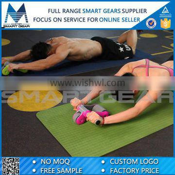 Portable ABS Foldable Double Fitness AB Power Wheel