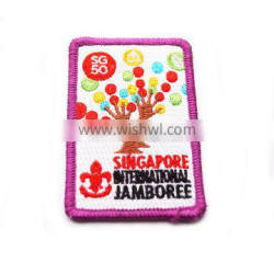 2017 Wholesale custom embroidered brand patches for clothing