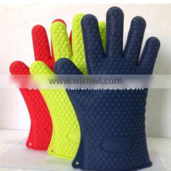 (High heat resistance ) Amazon Hot Selling Silicone Heat Resistant Grilling BBQ Gloves
