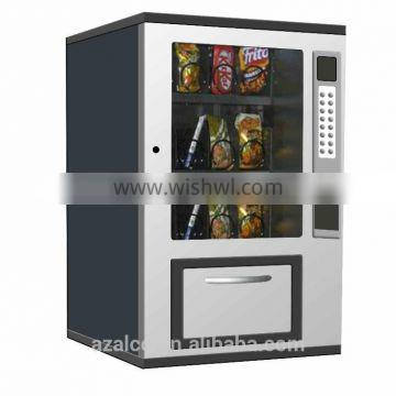 Smart easy operated mini snack vending machine for public place