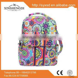 wholesale floral quilted cotton children school backpacks,small day backpacks