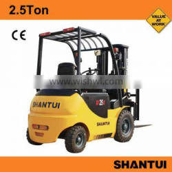 Shantui China 2.5Ton new electric forklift for sale