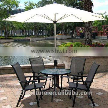 Outdoor coffee lounge chairs folding chairs Five-piece set garden furniture