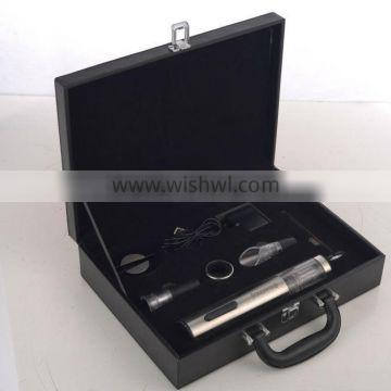 Promotion wine bottle accessories with leather box