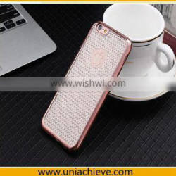 Electroplating Slim Soft TPU Bumper Clear Case Cover For Apple iPhone 6S / iPhone 6S Plus Rose Gold