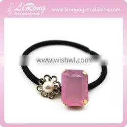 Hair Holder with Pink Stone