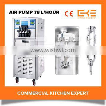 Air Pump Buffet Restaurant 3 in 1 Big Capacity 110 Volt Soft Serve Ice Cream Machines