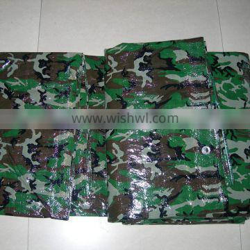Large heavy duty army camouflage tarpaulin