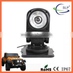 HID search light with flexible remote control magnetic base led work light