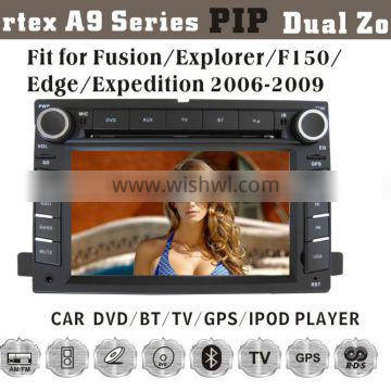 6.2inch HD 1080P BT TV GPS IPOD Fit for ford fusion/explorer/edge/expedition 2006-2009 double din car gps dvd