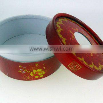 luxury customized printed round paper carton cosmetic packaging tube