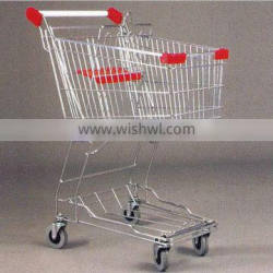 Asian style Supermarket steel wire shopping cart