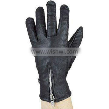 HMB-2089A LEATHER BIKER GLOVES THINSULATED DRIVING GLOVES