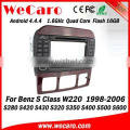 Wecaro WC-MB7509 Android 4.4.4 car dvd radio touch screen for mercedes benz w220 gps navigation 1998 - 2006 TV tuner