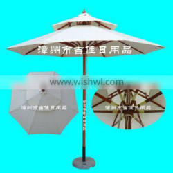 NWD-27MB double layer wood patio umbrella pulley system Supplier's Choice