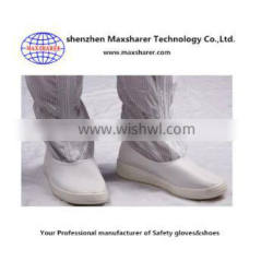 wholesale high quality unisex cleanroom shoes antistatic white cleanroom shoe