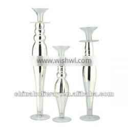SET OF 3PCS SILVERY CANDLESTICK