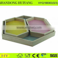 personalized colored wooden plate wood tray wholesale