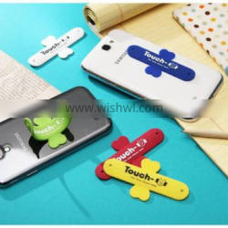 Touch U Shape Cell Mobile Silicone Phone Mount
