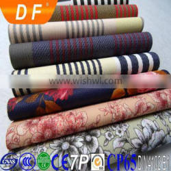 Embossed Pattern and PVC Material transferred printing leather