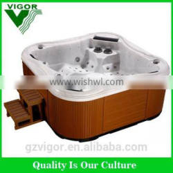 Factory whirlpool massage bathtubs small with seat and headrest