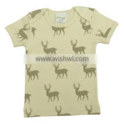 Natural Color Plain and Printed Envelop Style Baby t shirts and Organic Cotton Long Sleeve and short sleeve Polo t shirt for Ba