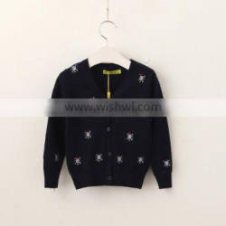 New Design Girls Fancy Beautiful Embroidery Sweater With Cheap Price