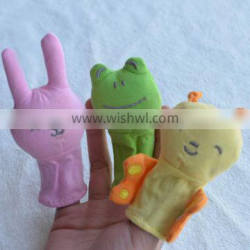 Wholsesale 100% Cotton Animal Finger baby doll toys
