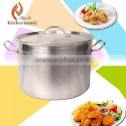 32X25cm OEM adjusatble sizes commercial industrial stainless steel steam pot for restaurant with double-ply bottome
