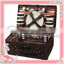 2012 Cheapest Wicker Picnic Basket With Fabric Liners