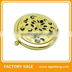 folding newest antique brass cosmetic compact mirrors