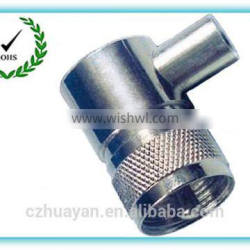Metal right angle uhf male connector