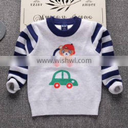 B40875A Kids clothes boys stripes pullover sweaters