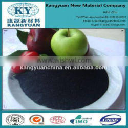 High grade leonardite potassium fulvate, potassium humate with fulvic acid shiny powder